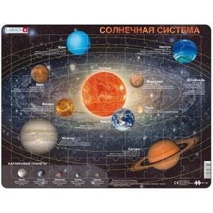"""Larsen (SS1-RU) - """"Das Sonnensystem (auf Russisch)"""" - 70 Teile Puzzle"""