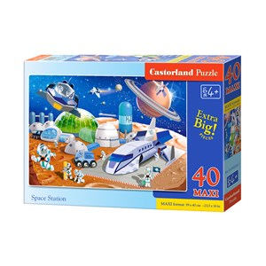"Castorland (B-040230) - ""Weltraumstation"" - 40 Teile Puzzle"
