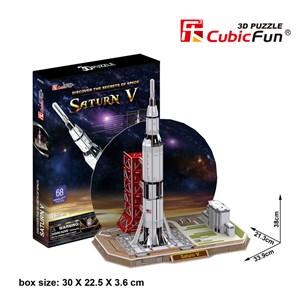 """Cubic Fun (P653H) - """"Saturn V"""" - 68 Teile Puzzle"""