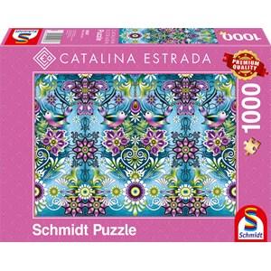 "Schmidt Spiele (59587) - Catalina Estrada: ""Blauer Sperlin"" - 1000 Teile Puzzle"