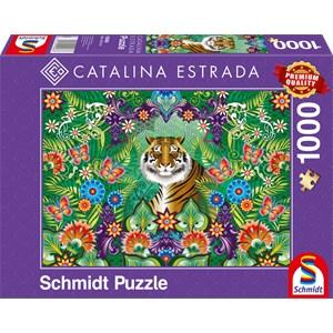 """Schmidt Spiele (59588) - Catalina Estrada: """"Bengalischer Tiger"""" - 1000 Teile Puzzle"""