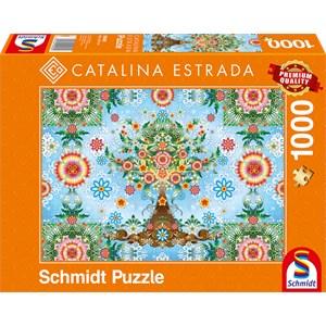 "Schmidt Spiele (59589) - Catalina Estrada: ""Farbenprächtiger Baum"" - 1000 Teile Puzzle"