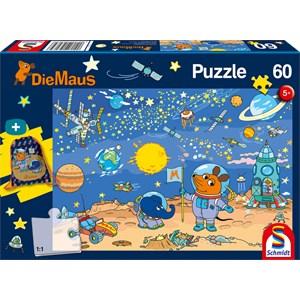 """Schmidt Spiele (56265) - """"Die Maus Kinderpuzzle"""" - 60 Teile Puzzle"""