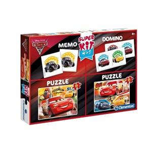 "Clementoni (08215) - ""Cars 3 + Memo + Domino"" - 30 Teile Puzzle"