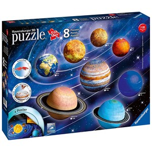 "Ravensburger (11668) - ""Unser Planetensystem"" - 522 Teile Puzzle"
