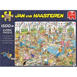 "Jumbo (19077) - Jan van Haasteren: ""Backe backe Kuchen"" - 1500 Teile Puzzle"