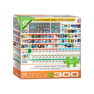 "Eurographics (8300-5370) - ""Illustriertes Periodensystem"" - 300 Teile Puzzle"