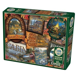 """Cobble Hill (80040) - Sam Timm: """"Cabin Signs"""" - 1000 Teile Puzzle"""