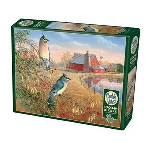 """Cobble Hill (80189) - Sam Timm: """"Cedar Waxwings"""" - 1000 Teile Puzzle"""