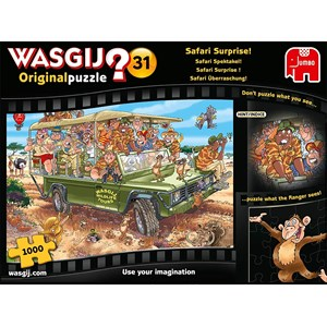 "Jumbo (19164) - ""Wasgij Original 31, Safari Surprise"" - 1000 Teile Puzzle"