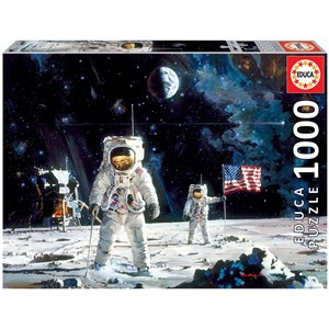 """Educa (18459) - Robert McCall: """"First Men on the Moon"""" - 1000 Teile Puzzle"""