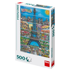 "Dino (50237) - ""Paris, Frankreich"" - 500 Teile Puzzle"