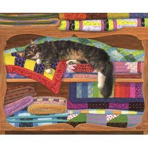 "SunsOut (31649) - Linda Elliott: ""Quilt Cupboard"" - 1000 Teile Puzzle"