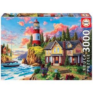 """Educa (18507) - """"Lighthouse Near The Ocean"""" - 3000 Teile Puzzle"""