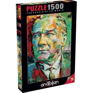 """Anatolian (4555) - Tolga Ertem: """"Mustafa Kemal Ataturk"""" - 1500 Teile Puzzle"""