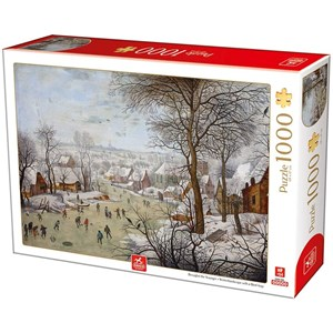 """Deico (76656) - Pieter Brueghel the Younger: """"Winterlandscape with a Bird Traps"""" - 1000 Teile Puzzle"""