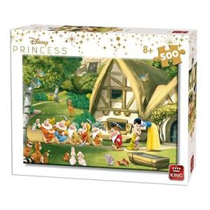 """King International (55916) - """"Disney Princess, Schneewittchen und die sieben Zwerge"""" - 500 Teile Puzzle"""