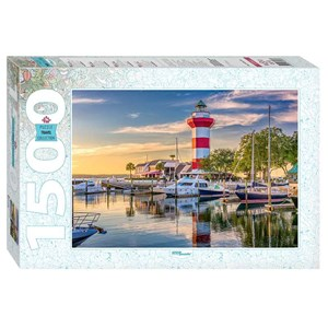 """Step Puzzle (83063) - """"Harbour Town Lighthouse, South Carolina"""" - 1500 Teile Puzzle"""