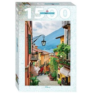 """Step Puzzle (83065) - """"Street view in Bellagio and lake Como, Italy"""" - 1500 Teile Puzzle"""