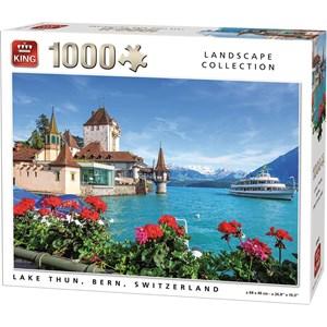 "King International (55941) - ""Lake Thun, Bern, Switzerland"" - 1000 Teile Puzzle"
