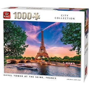"""King International (55851) - """"Eiffel Tower at The Seine"""" - 1000 Teile Puzzle"""