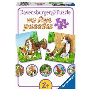 """Ravensburger (05072) - """"Tierfamilien auf dem Bauernhof"""" - 2 Teile Puzzle"""