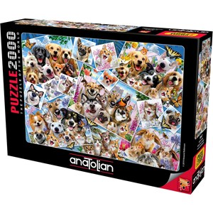 "Anatolian (3947) - Howard Robinson: ""Selfie Pet Collage"" - 2000 Teile Puzzle"