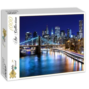 "Grafika (01150) - ""New York by Night"" - 1000 Teile Puzzle"