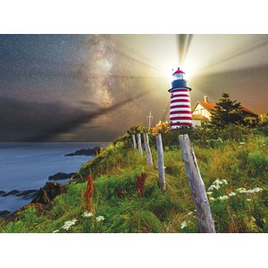 "SunsOut (45701) - Michael Blanchette: ""Night over West Quoddy Lighthouse"" - 1000 Teile Puzzle"