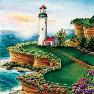 "SunsOut (45622) - ""Lighthouse Sunset"" - 500 Teile Puzzle"