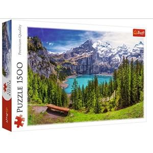 """Trefl (26166) - """"Oeschinensee, Alpen, Schweiz"""" - 1500 Teile Puzzle"""