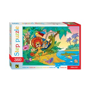 """Step Puzzle (73006) - """"The Lion and the Turtle"""" - 360 Teile Puzzle"""