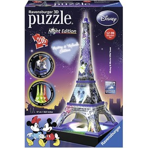 "Ravensburger (12520) - ""Disney Eiffelturm"" - 216 Teile Puzzle"