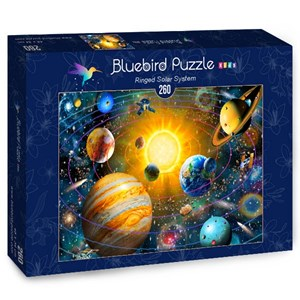 "Bluebird Puzzle (70383) - Adrian Chesterman: ""Ringed Solar System"" - 260 Teile Puzzle"