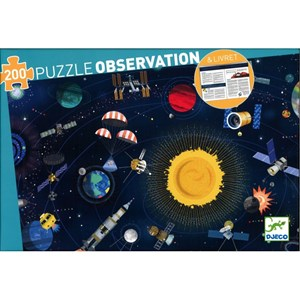 """Djeco (07413) - """"Space"""" - 200 Teile Puzzle"""