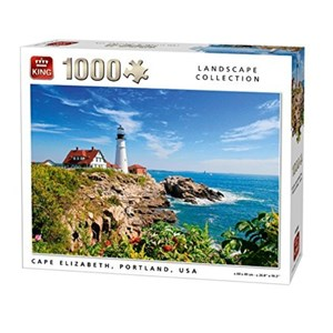 "King International (05709) - ""Cape Elizabeth, Portland"" - 1000 Teile Puzzle"