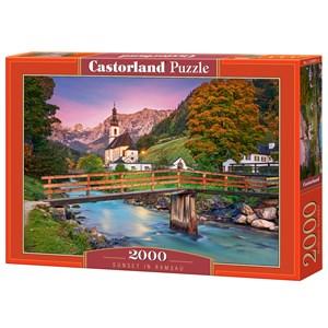"""Castorland (C-200801) - """"Sunset in Ramsau"""" - 2000 Teile Puzzle"""