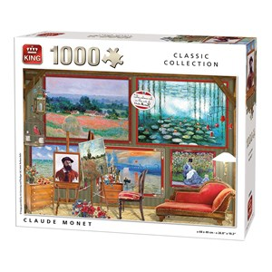"King International (55864) - ""Claude Monet"" - 1000 Teile Puzzle"