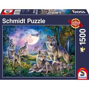 """Schmidt Spiele (58954) - """"Wölfe"""" - 1500 Teile Puzzle"""
