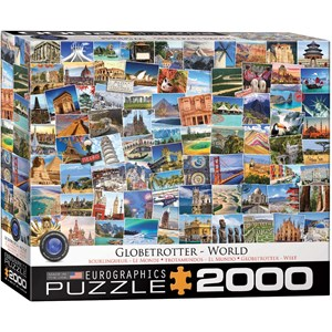 "Eurographics (8220-5480) - ""World Globetrotter"" - 2000 Teile Puzzle"