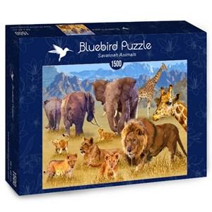 "Bluebird Puzzle (70419) - François Ruyer: ""Savannah Animals"" - 1500 Teile Puzzle"