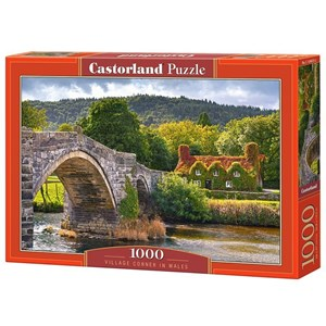 "Castorland (C-104673) - ""Village Corne in Wales"" - 1000 Teile Puzzle"