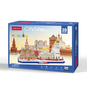 "Cubic Fun (mc266h) - ""Citylineб Moscow"" - 204 Teile Puzzle"