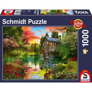 """Schmidt Spiele (58968) - """"The Water Mill"""" - 1000 Teile Puzzle"""