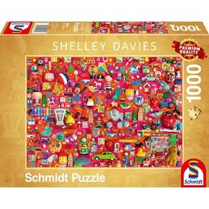 """Schmidt Spiele (59699) - Shelley Davies: """"Vintage Toys"""" - 1000 Teile Puzzle"""