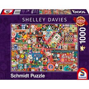 "Schmidt Spiele (59900) - Shelley Davies: ""Vintage Board Games"" - 1000 Teile Puzzle"