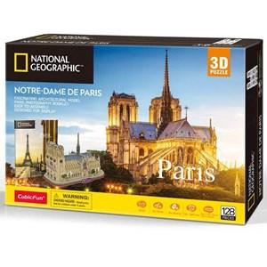 """Cubic Fun (ds0986h) - """"Notre-Dame de Paris"""" - 128 Teile Puzzle"""