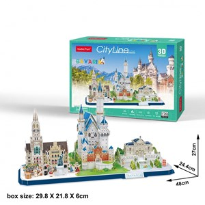 "Cubic Fun (mc267h) - ""Cityline, Bavaria"" - 178 Teile Puzzle"