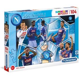 """Clementoni (27139) - """"SSC Napoli Supercolor Puzzle"""" - 104 Teile Puzzle"""
