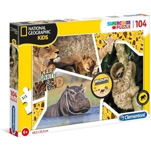 """Clementoni (27143) - """"Wildlife Adventure"""" - 104 Teile Puzzle"""